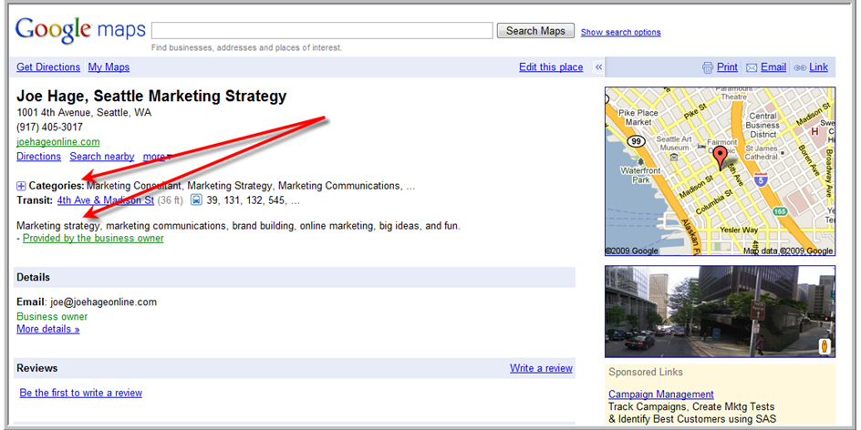 "Maybe I should use ""Seattle Online Marketing"" instead?"